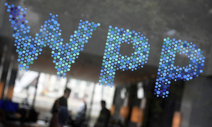 Branding signage for WPP, the largest global advertising and public relations agency, at their offices in London, Britain, on July 17, 2019. (Toby Melville/Reuters)
