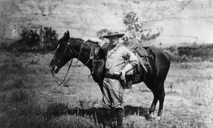 Theodore Roosevelt (1858-1919) during a visit to the Badlands of Dakota.(MPI/Getty Images)