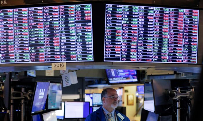 A trader works on the floor at the New York Stock Exchange (NYSE) in Manhattan, New York City on Sept. 24, 2021. (Andrew Kelly/Reuters)