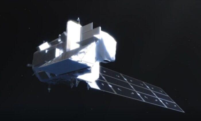 Landsat 9 is shown in this graphic animation. (NASA-USGS via AP/ Screenshot via NTD)