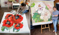 Ukrainian Artist Paints Huge Flowers in Deliciously Larger-Than-Life Watercolors