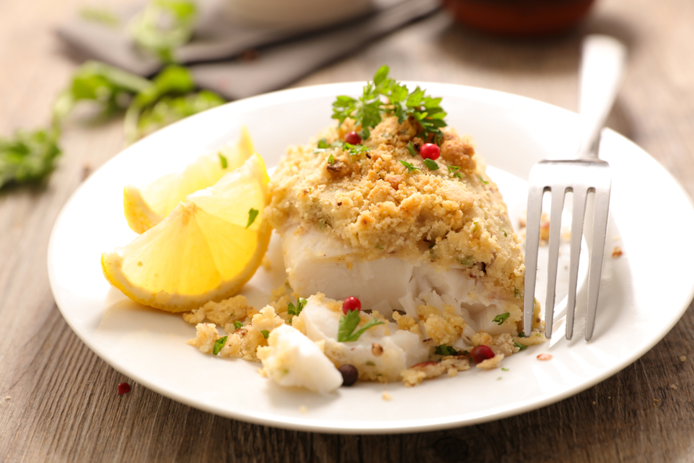 Baked,Fish,With,Crust