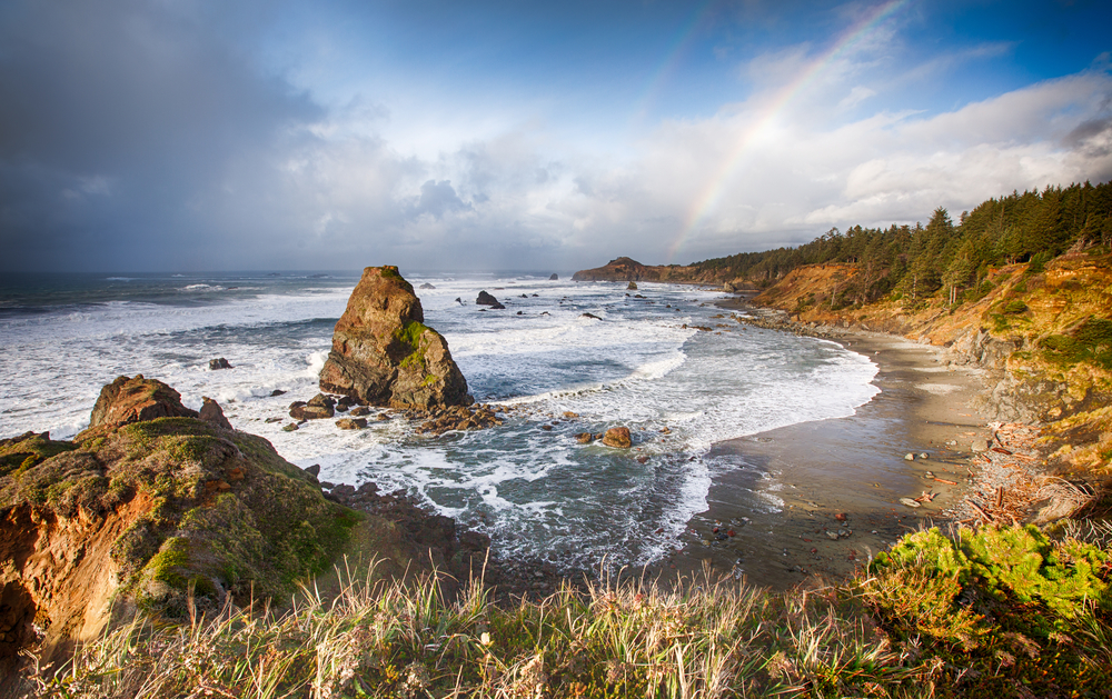 A,Storm,Come,In,At,Gold,Beach,Oregon,,Usa.,There