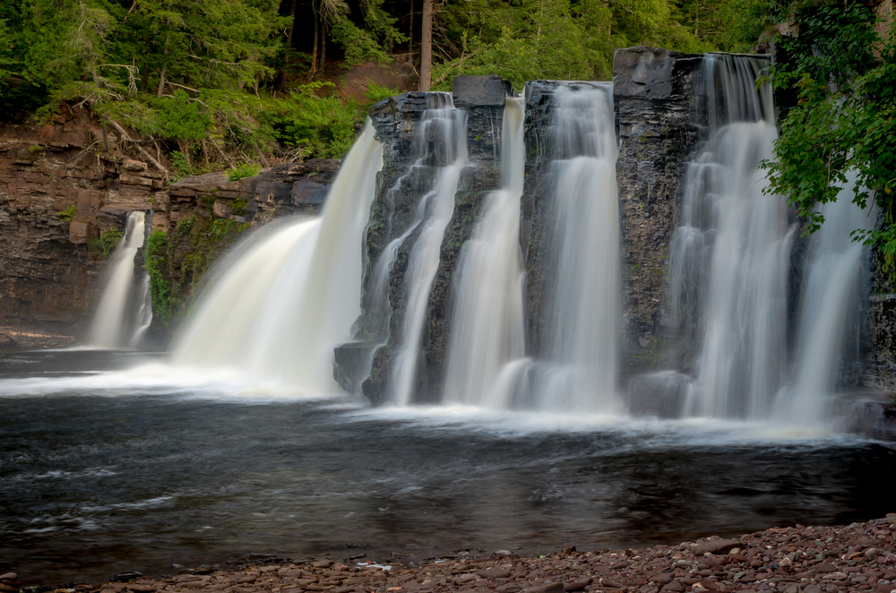 The,Manabezho,Falls,,Located,In,The,Porcupine,Mountains,State,Park