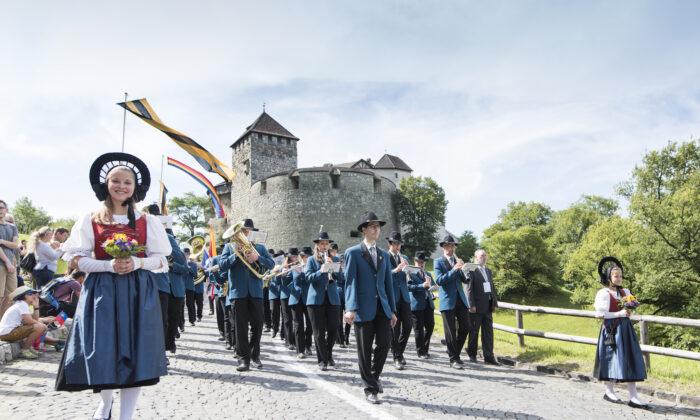 A ceremony on Aug. 15,  2017, in Vaduz, honors Liechtenstein's national holiday. (Michael Zanghellini/Liechtenstein Marketing)