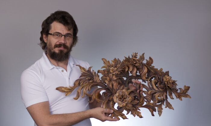 Master woodcarver Alexander A. Grabovetskiy was awarded the Woodworkers Institute's International Woodcarver of the Year 2012award for this ornamental carving. (Courtesy of Alexander A. Grabovetskiy)