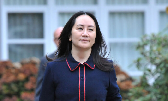 Huawei chief financial officer Meng Wanzhou, leaves her home to appear in British Columbia Supreme Court, in Vancouver, on Oct. 27  2020. (Don MacKinnon/AFP via Getty Images)
