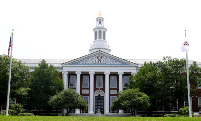 The campus of Harvard Business School in Boston, Massachusetts, on July 8, 2020. (Maddie Meyer/Getty Images)