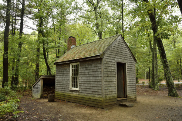 Concord,,Massachusetts,,Usa,-,October,2,,2016.,Reconstructed,Cabin,Of