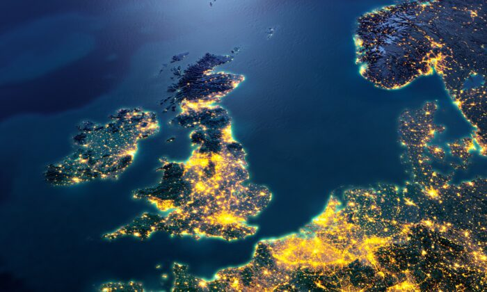 The United Kingdom from space. (Anton Balazh/Adobe Stock)