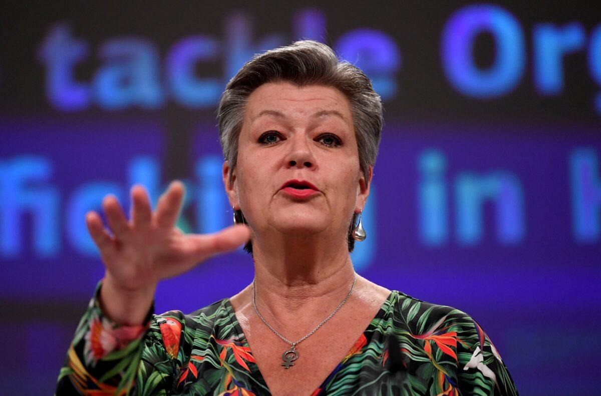European Commissioner for Home Affairs Ylva Johansson