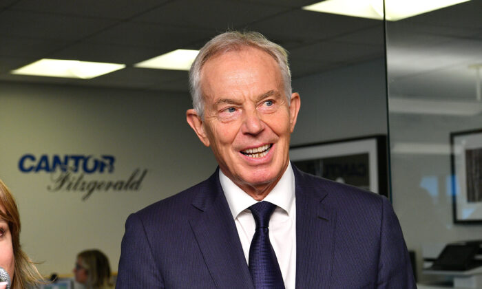 Former British Prime Minister Blair in New York City on Sept. 11, 2019. (Dia Dipasupil/Getty Images for Cantor Fitzgerald)