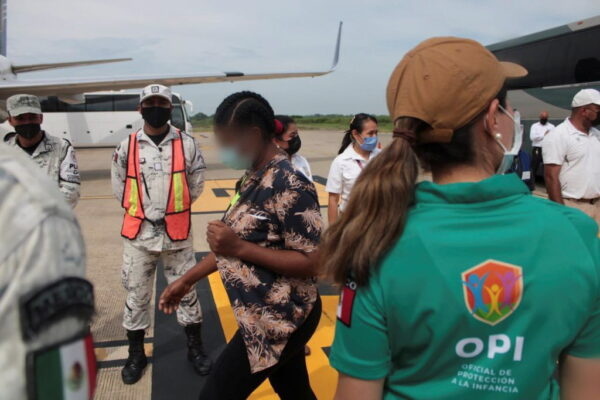 The Mexican government sent 70 migrants back to Haiti by plane