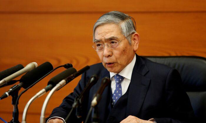 Bank of Japan Governor Haruhiko Kuroda speaks at a news conference in Tokyo, Japan on Jan. 21, 2020. (Kim Kyung-Hoon/Reuters)