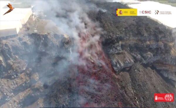 lava from volcano