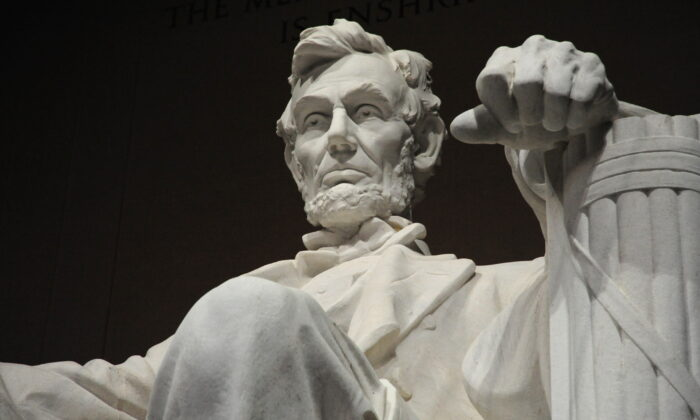 The statue of the 16th President of the United States Abraham Lincoln is seen inside the Lincoln Memorial in Washington on Feb. 12, 2009. (Karen Bleier/AFP via Getty Images)