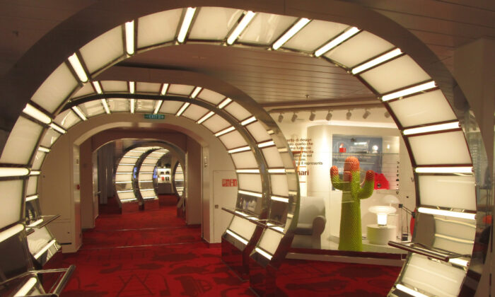 The fascinating CoDe museum on the Costa Smeralda cruise ship gives passengers a look at design through the years. (Courtesy of Barbara Selwitz)