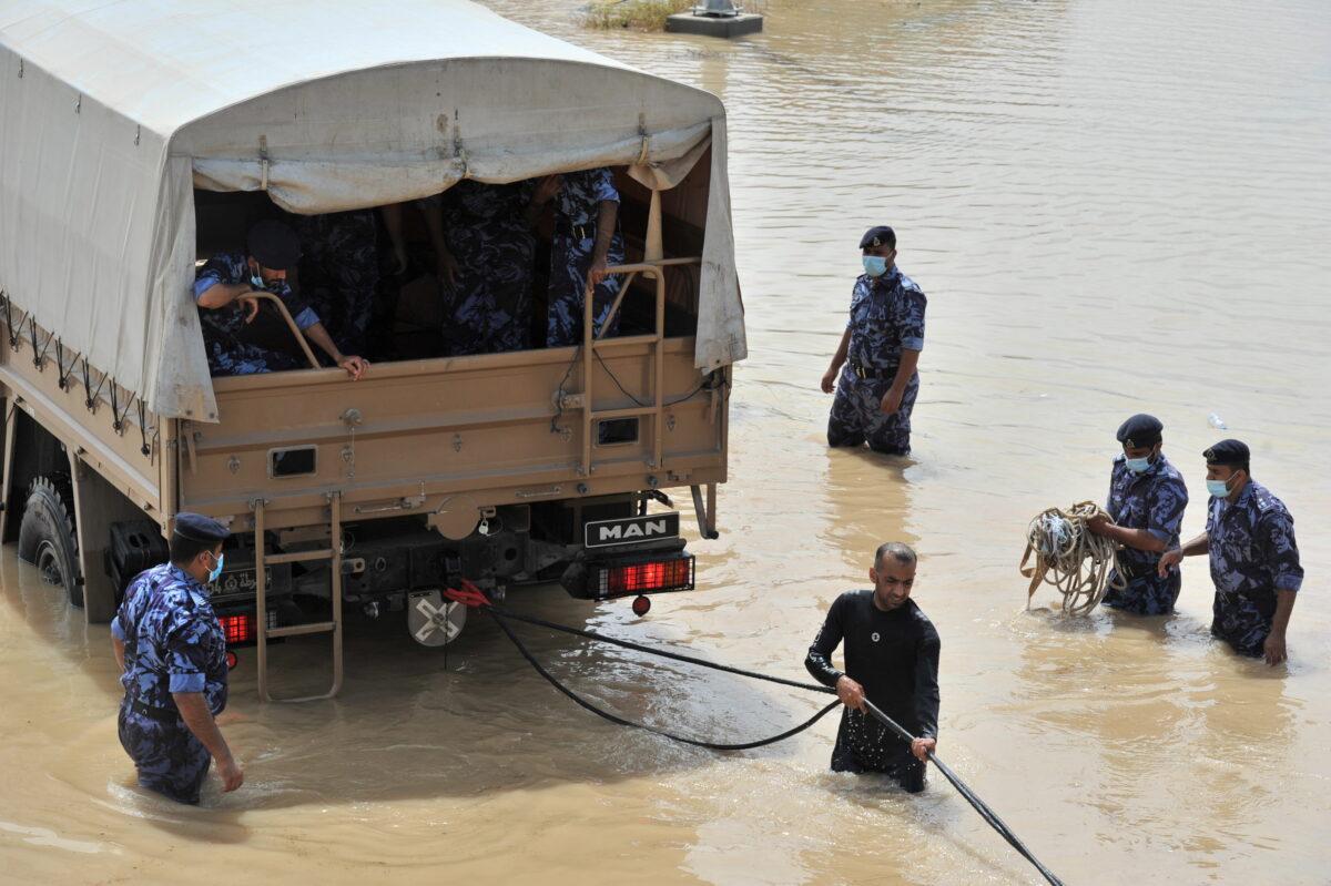 Cyclone Shaheen in Al Musanaa