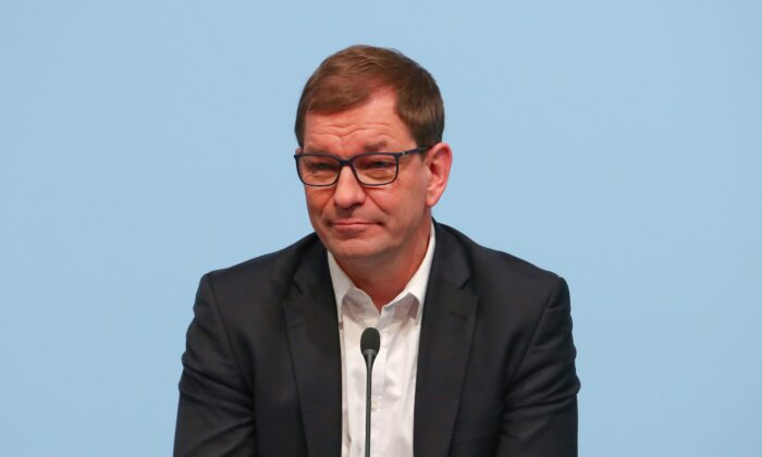 Markus Duesmann, board member of German luxury carmaker BMW attends the company's annual news conference in Munich, Germany on March 21, 2018. (Michael Dalder/Reuters)
