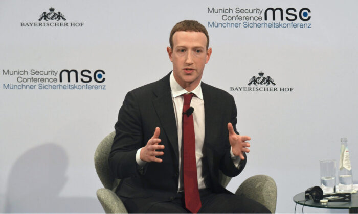 The founder and CEO of Facebook Mark Zuckerberg speaks during the 56th Munich Security Conference (MSC) in Munich, southern Germany, on Feb. 15, 2020. (Christof Stache/AFP)