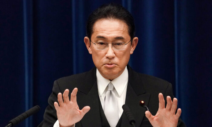 Fumio Kishida, Japan's prime minister, speaks during a news conference at the prime minister's official residence in Tokyo, Japan, on Oct. 04, 2021. (Toru Hanai/Pool/Getty Images)