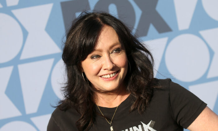 Shannen Doherty attends the FOX Summer TCA 2019 All-Star Party at Fox Studios in Los Angeles, Calif., on Aug. 7, 2019. (Michael Tran/AFP via Getty Images)