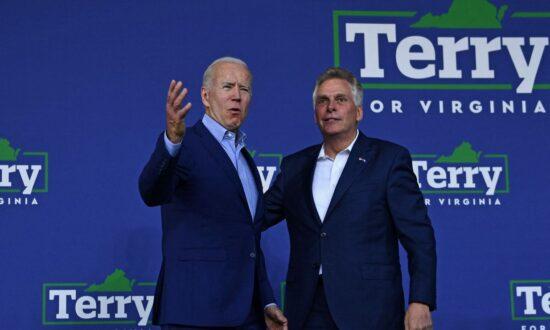 Terry McAuliffe Issues Warning: Biden 'Is Unpopular Here in Virginia'