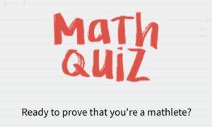 Quiz: Test Your Math Level