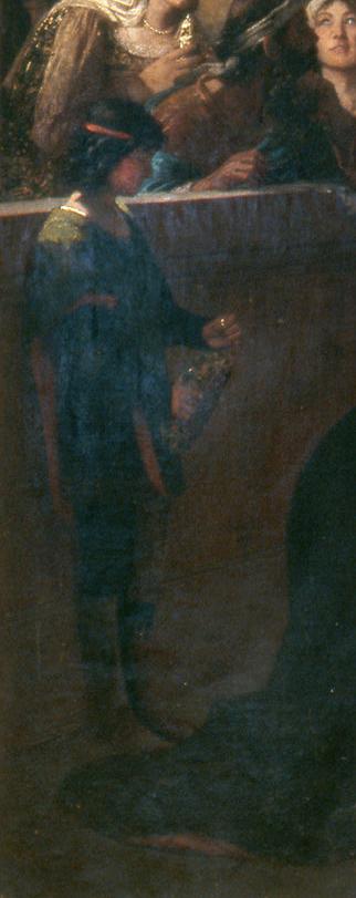 Savonarola-preaching-against-prodigality-boy with flame