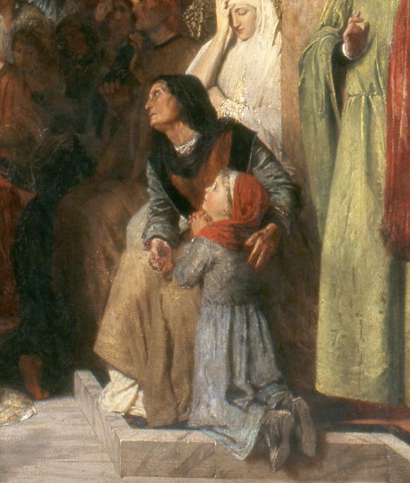 Savonarola-preaching-against-prodigality-mother and child