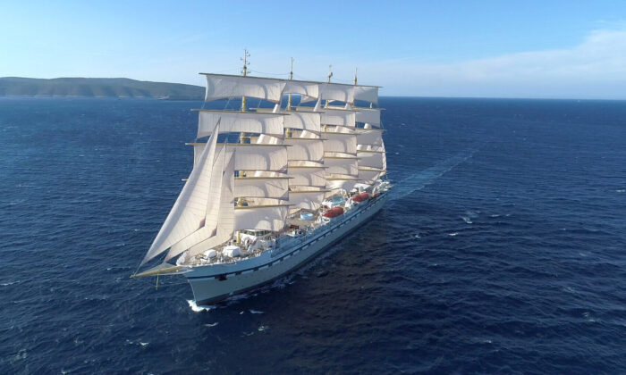 The new vessel Golden Horizon is a near replica of the ocean vessel France II, built in 1913. (Courtesy of Tradewind Voyages)