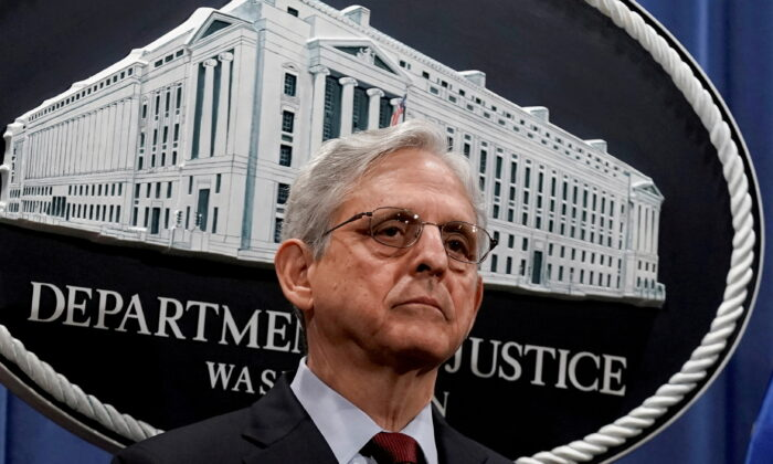 Attorney General Merrick Garland attends a news conference at the Department of Justice in Washington on June 25, 2021. (Ken Cedeno/Reuters)