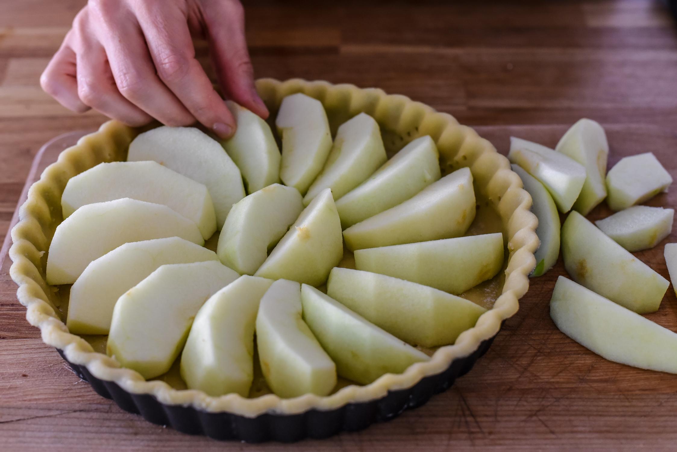 Apples in circular pattern - Normandy-style Apple Tart (Tarte Normande) (10)