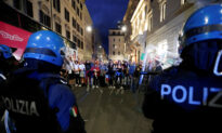 Italian Police Arrest 12 After Anti-COVID-19 Pass Protest