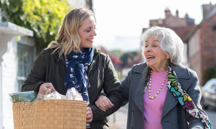Being of assistance to others helps us feel more connected, and therefore less susceptible to depression and loneliness—factors that especially impact seniors today. (Daisy Daisy/Shutterstock)