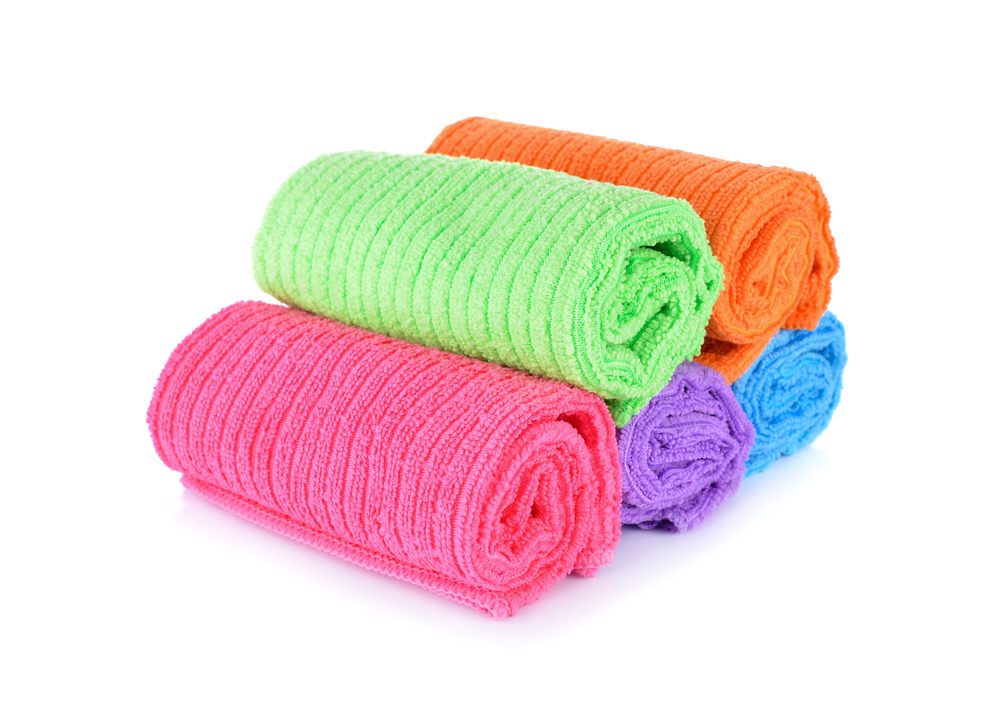 Pile,Of,Small,Towel,On,White,Background