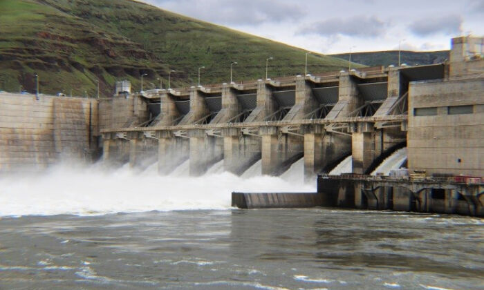 The Lower Granite Dam in Idaho is one of four Snake River dams that could be impacted by Oregon's legal motion to force operators to spill more water over the top,  rather than allowing it to flow through turbines to generate power. (Stock photo/Idaho Fish and Game)