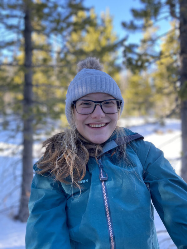 Grace Smith enjoying the snow at home in Wyoming.