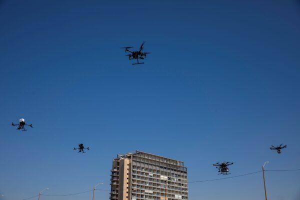 Drones carry goods