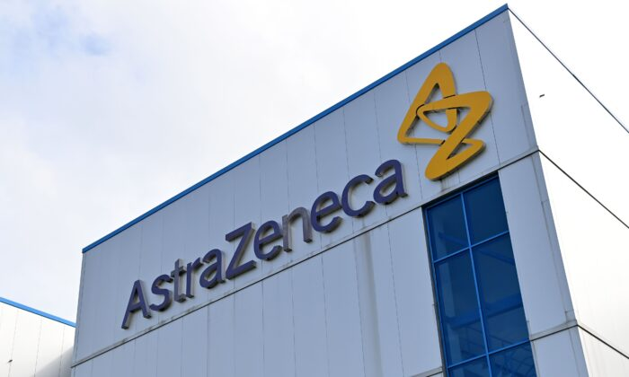 An office of British-Swedish multinational pharmaceutical and biopharmaceutical company AstraZeneca is seen in Cheshire, England, in a file photograph. (Paul Ellis/AFP via Getty Images)
