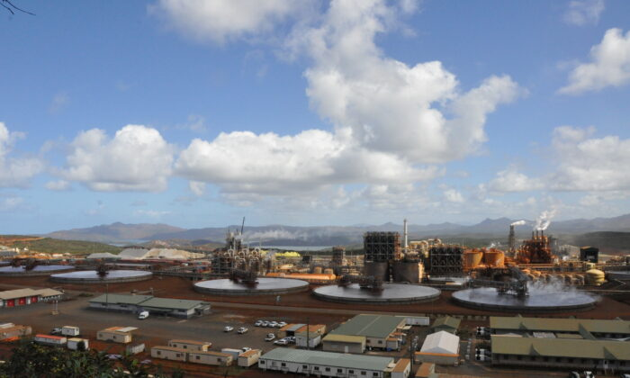 General view of Prony Resources operations which produces nickel and cobalt, east of the capital of Noumea, in New Caledonia, in 2020. (Radikal Pictures 2020/Handout via Reuters)