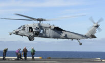 US Navy Helicopter, Human Remains Recovered Off California
