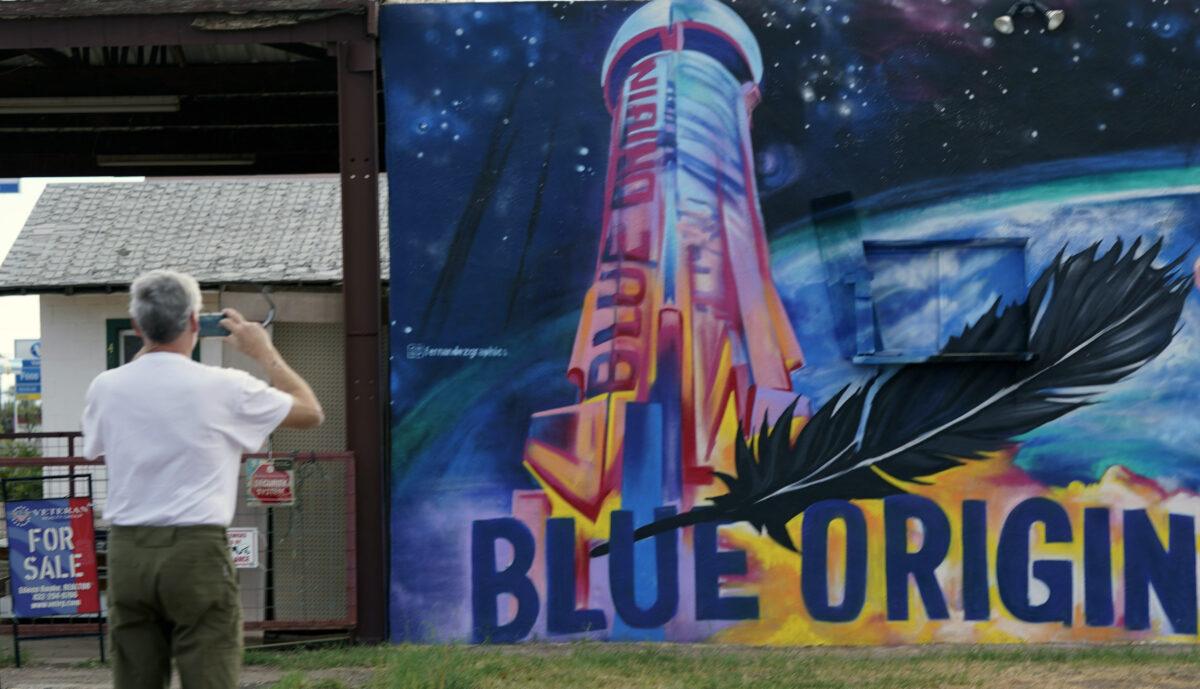 Blue Origin mural