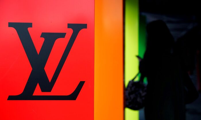 The logo of French luxury fashion brand Louis Vuitton in Paris, France on Feb. 4, 2021. (Benoit Tessier/Reuters)