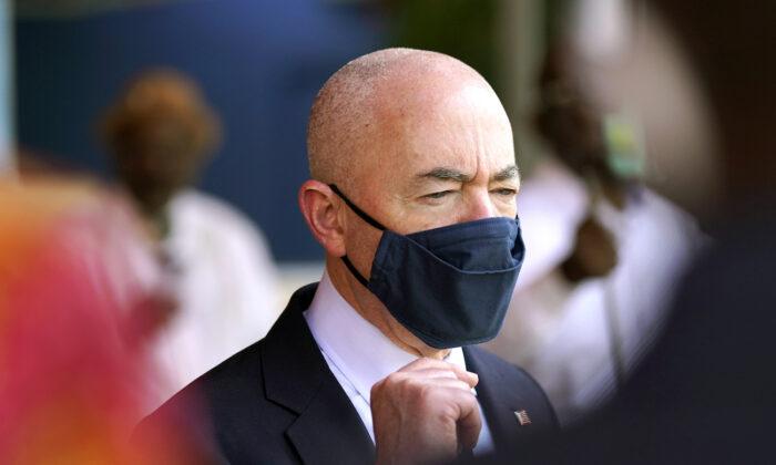 Homeland Security Secretary Alejandro Mayorkas in Miami, Fla., on May 25, 2021. (AP Photo/Lynne Sladky)