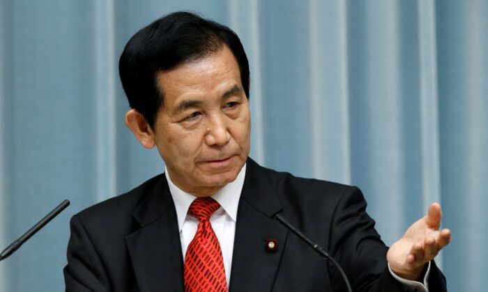 Japan's State Minister in charge of vitalizing local economies Kozo Yamamoto speaks in Tokyo, Japan on Aug. 3, 2016. (Kim Kyung-Hoon/Reuters)