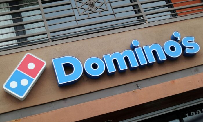 A Domino's Pizza restaurant is seen in Los Angeles, Calif., on July 18, 2018. (Lucy Nicholson/Reuters)