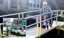 High Schoolers, Nonprofit Help Build Outdoor Wheelchair Ramp for Veteran With Terminal Illness