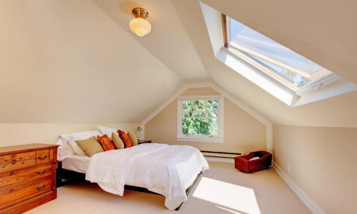 Skylights bring more natural light into a room, cutting down on artificial light electricity costs. (Artazum/Shutterstock)