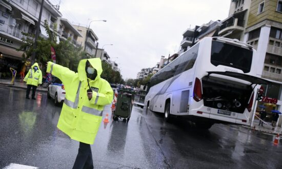 Bus Tips Into Sinkhole as Deadly Storms Lash Greece